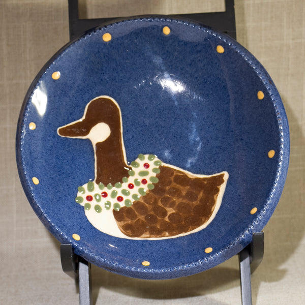 EARTHEN VESSEL CINCINNATI OHIO Christmas Goose Dish Circa 1986