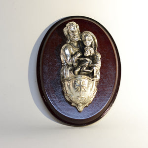 Made in Colombia HOLY WATER FONT Depicting THE HOLY FAMILY