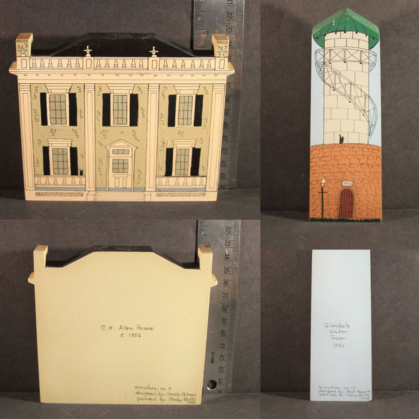 GLENDALE OHIO HISTORIC LANDMARKS MINIATURES Limited Edition C.H. Allen House Circa 1856 Glendale Water Tower 1892