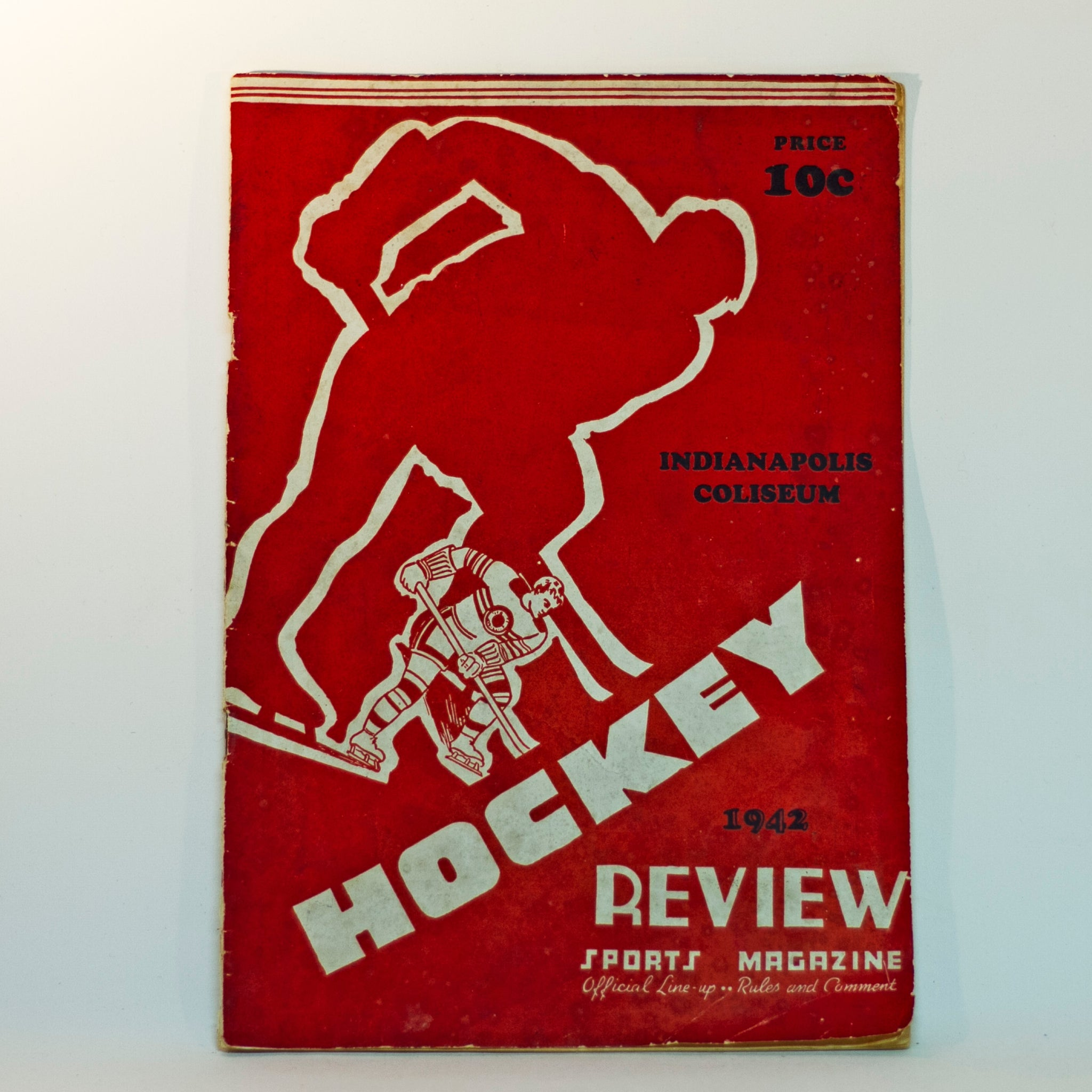Rare 1940-41 INDIANAPOLIS CAPITALS Hockey Preview Program Media