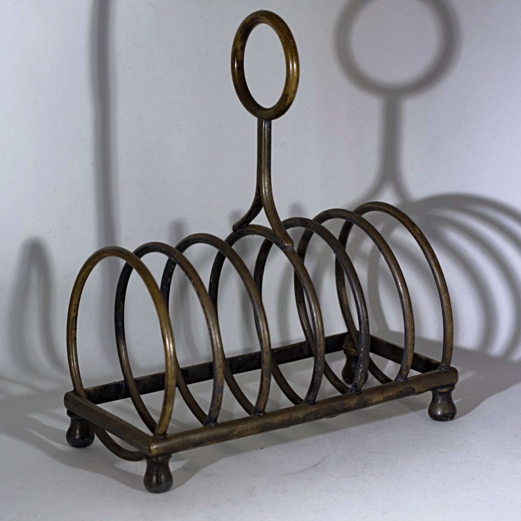 Mid-Century BRASS LETTER HOLDER or Sorter Circa 1940s - 1960s Don Draper Mad Men