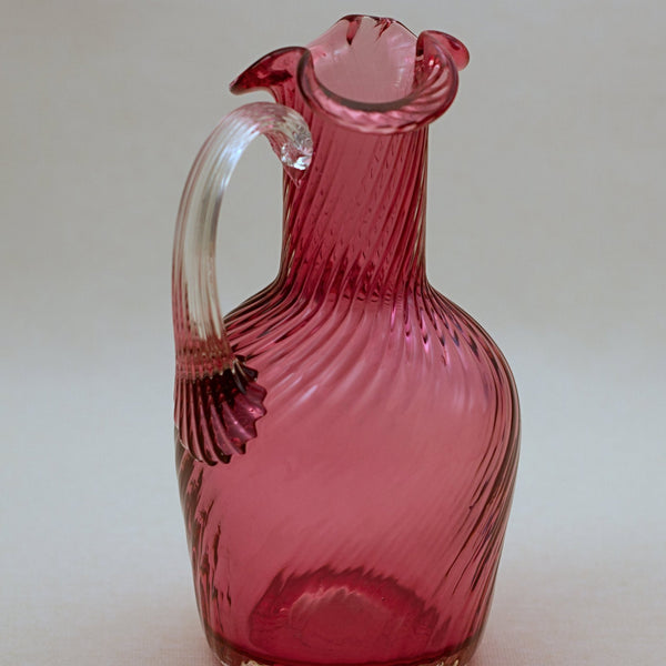PILGRIM CRANBERRY GLASS Small Claret Jug -  Atlanta Collection