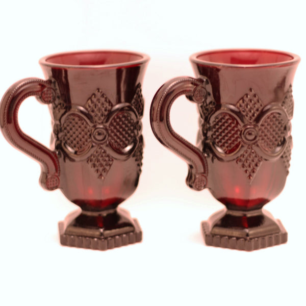 CAPE COD 1876 COLLECTION By Avon Irish Coffee Pedestal Mugs Set of Two (2)
