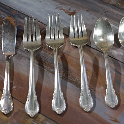 REMEMBRANCE SILVER PLATE FLATWARE by 1847 Rogers Brothers Mixed Lot