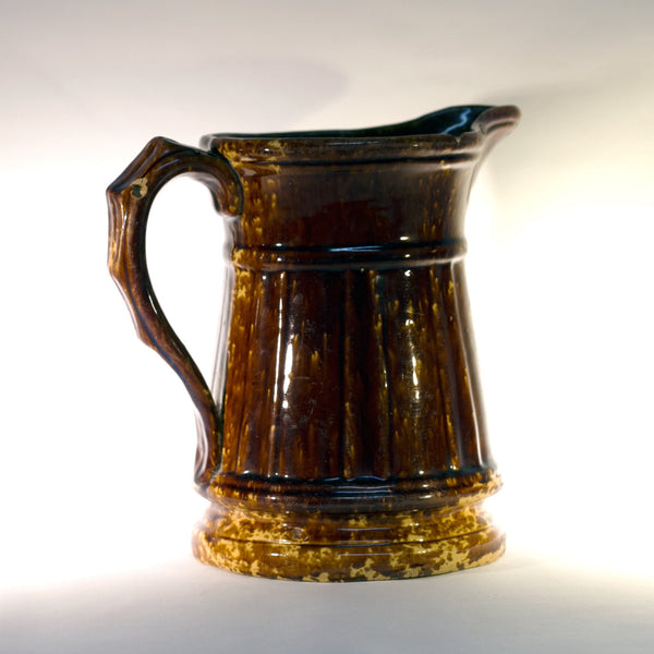 Antique AMERICAN ROCKINGHAM PITCHER Circa 1865 - 1900