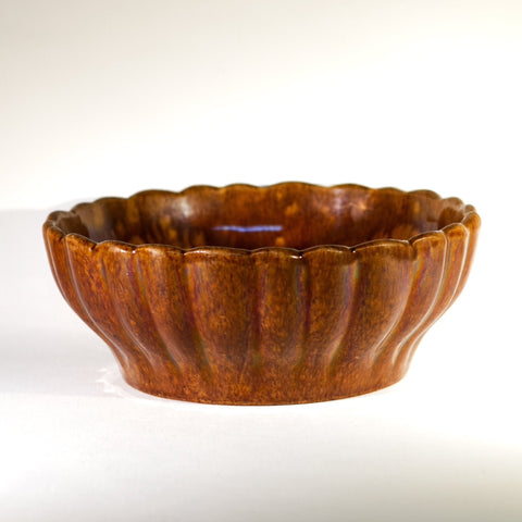 Antique AMERICAN ROCKINGHAM RIBBED BOWL Circa 1880 - 1900
