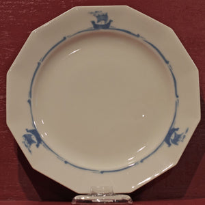 "BLUE SAILING SHIPS 10 ¼"" DINNER PLATE by Rookwood Pottery Cincinnati Ohio"