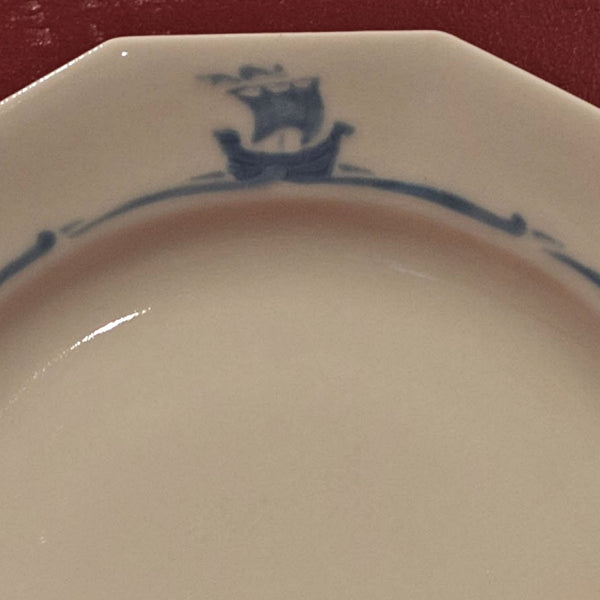 "Rookwood Pottery BLUE SAILING SHIPS SHIPWARE 10 ¼"" DINNER PLATE Circa 1886"
