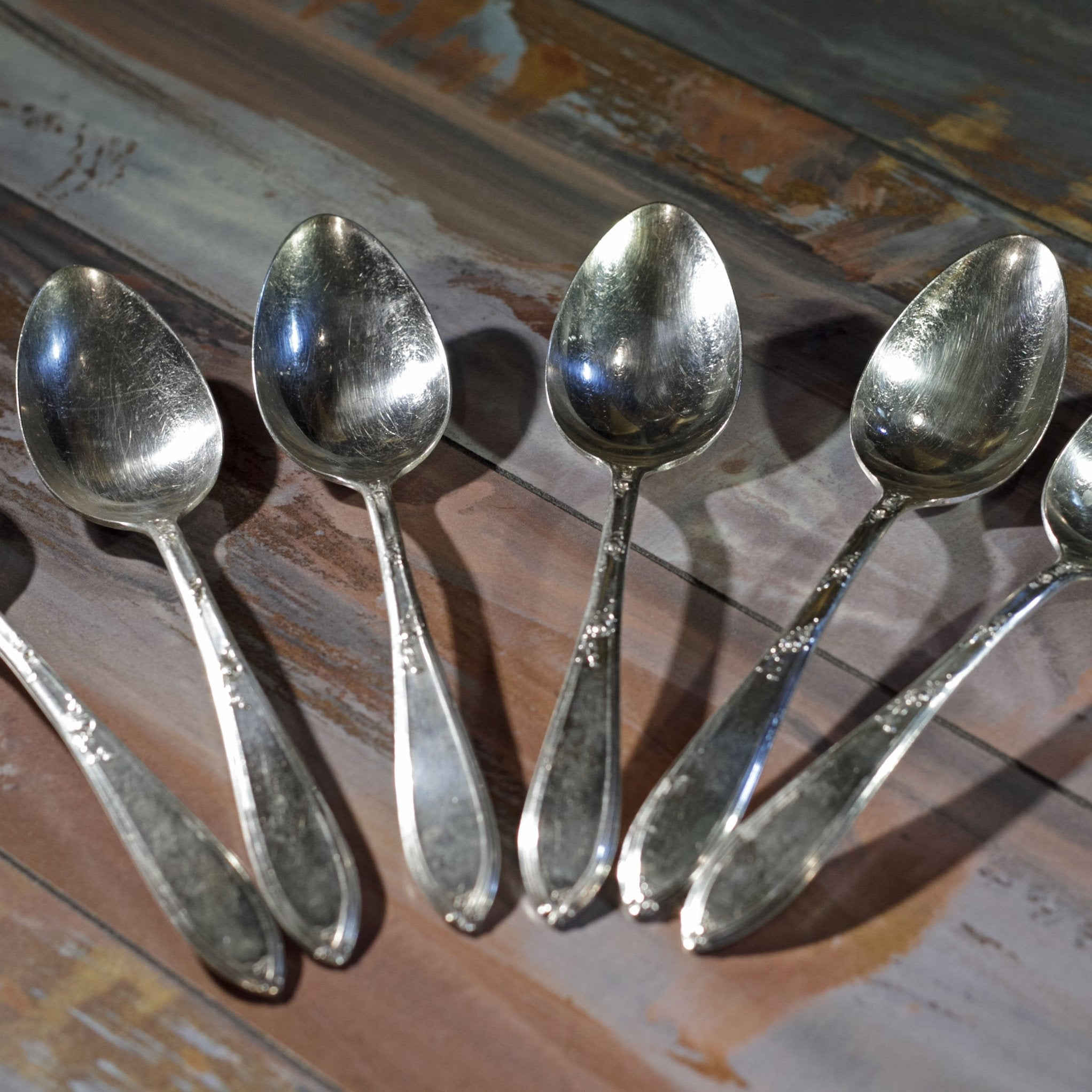 ROSEMARY SILVER PLATE TABLESPOONS Set of Six (6)
