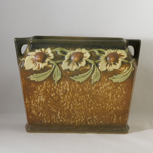 ROSEVILLE POTTERY Pillow Vase in Dahlrose Circa 1924