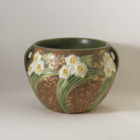 "ROSEVILLE 4"" HANDLE VASE in Jonquil Circa 1931"