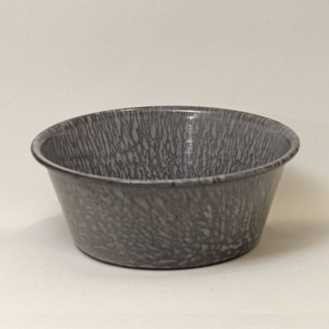 Vintage GRANITE WARE SMALL 12-OUNCE BOWL Light Gray Mottled