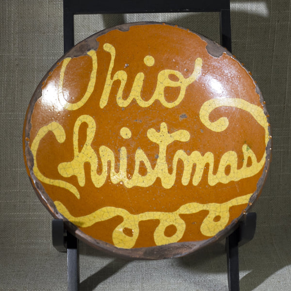 SHOONER AMERICAN REDWARE Ohio Christmas Dish Signed and Dated Circa 1994