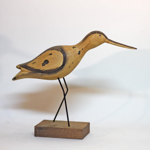 "Hand Carved and Painted SANDPIPER SHOREBIRD 7 ½"" Tall"