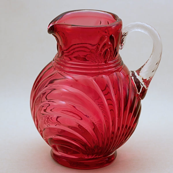 FENTON CRANBERRY GLASS Caprice Pitcher