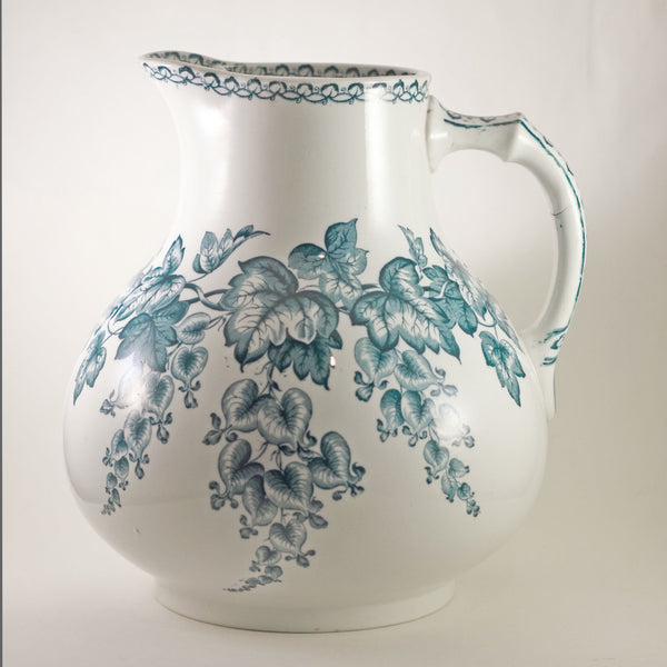 Antique DOULTON BURSLEM Transferware Pitcher in Spect'is Pattern Circa 1882