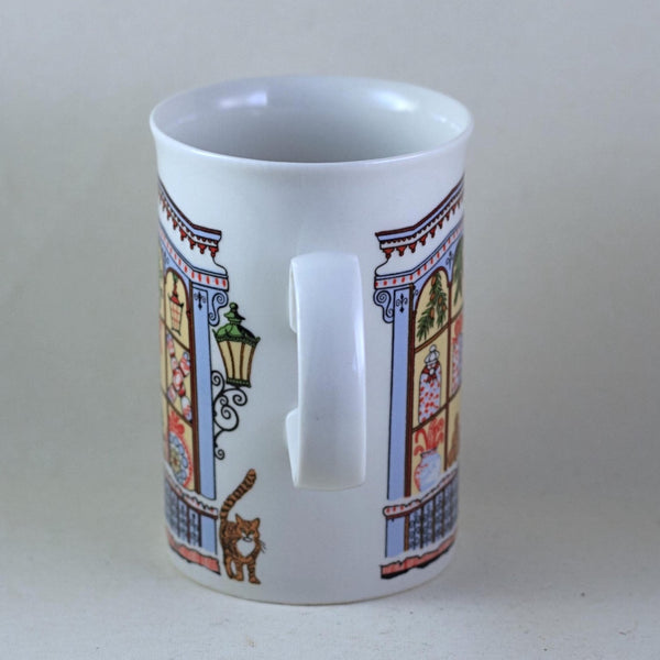 DUNOON SUE SCULLARD Mug Christmas Storefront with Cats