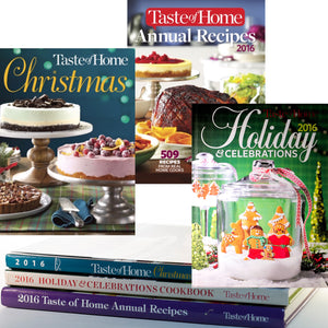 Three Volume Set 2016 TASTE OF HOME Collectible Series: Holiday & Celebrations, Christmas and Annual Recipes