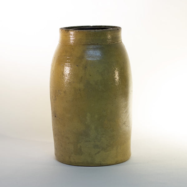 Antique 19th Century STONEWARE CROCK with Thumbprint Mark