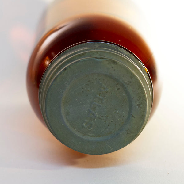 Vintage Amber Glass WAN-ETA COCOA Quart-Size Mason Jar Distributed by the Massachusetts Chocolate Company of Boston Circa 1920 to 1930