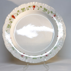 "BACCHUS RED LARGE 13"" CHOP PLATE by Wedgewood Etruria & Barlaston England Circa 1940 - 1974 Discontinued Pattern"