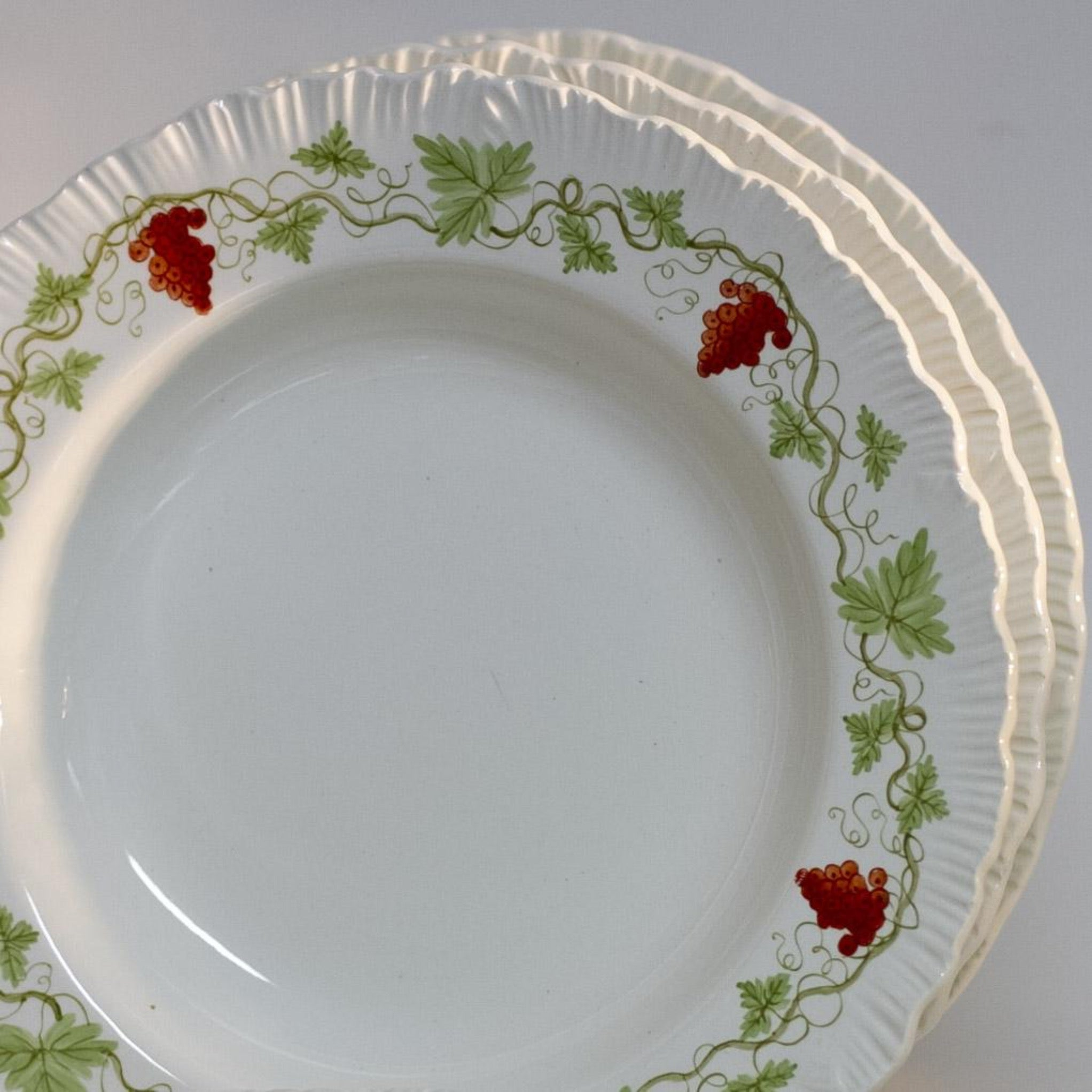 BACCHUS RED by Wedgewood RIMMED SOUP BOWL Circa 1940 - 1974 Discontinued Pattern Made in England