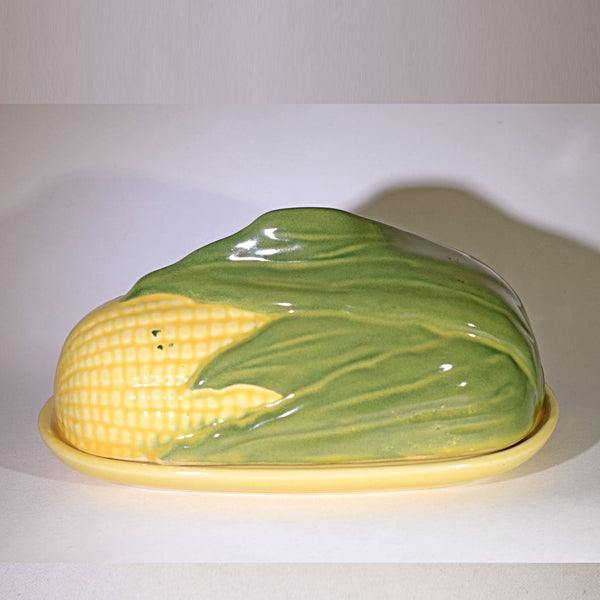 SHAWNEE Pottery CORN KING Covered Butter Dish