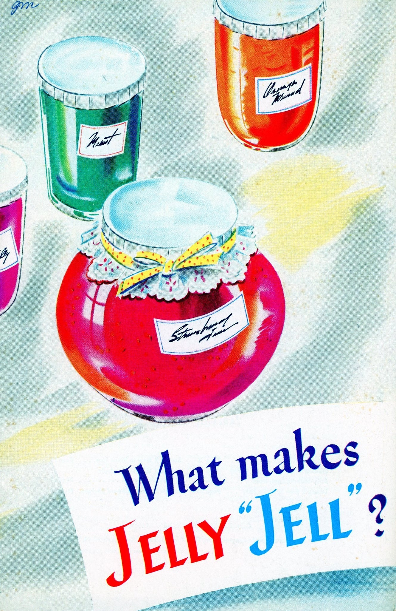 "WHAT MAKES JELLY ""JELL""? Vintage Recipe Book Published by General Foods Corporation Circa 1945"