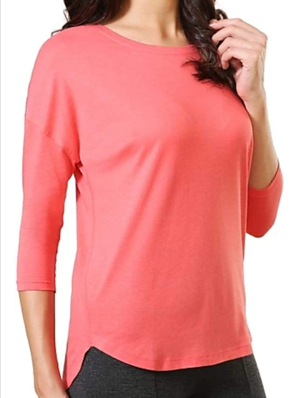 Van Heusen Women Round Neck 3/4th Sleeve T-Shirt- 55404 - HARSHU FASHION