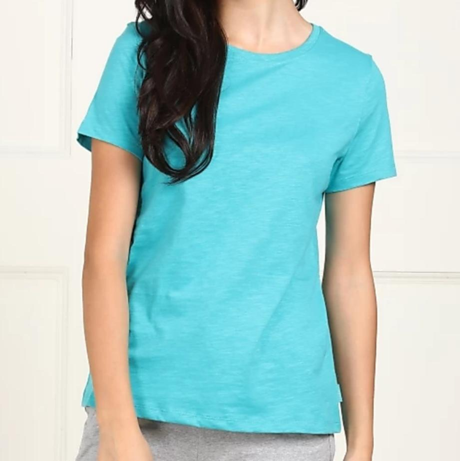 Van Heusen Women Cotton Round Neck T-Shirt- 55401 - HARSHU FASHION