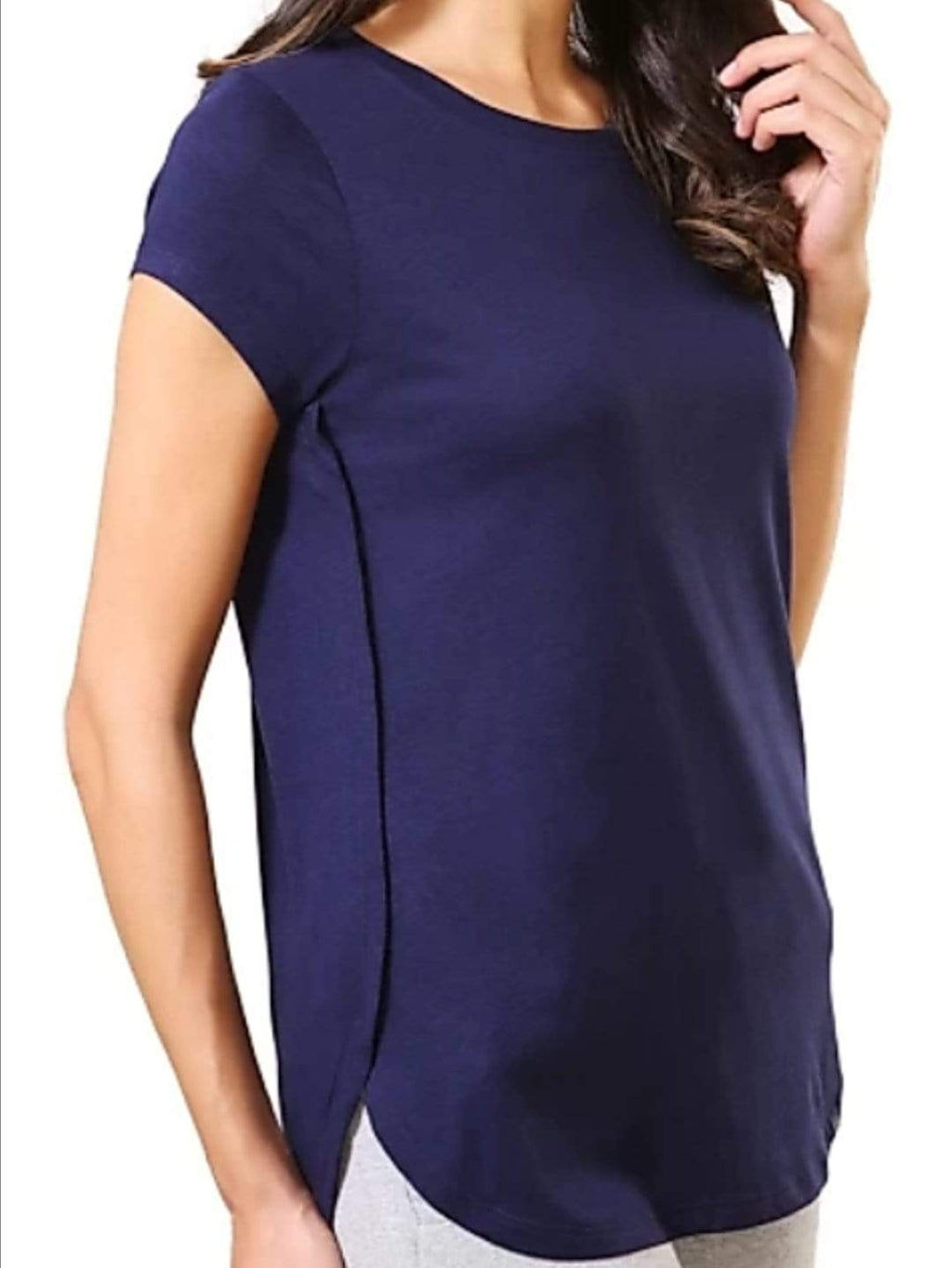 Van Heusen Women Cotton Round Neck T-Shirt- 55403 - HARSHU FASHION