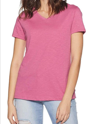 Van Heusen Women Cotton V-Neck T-Shirt- 55402 - HARSHU FASHION