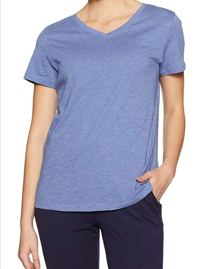 Van Heusen Women Cotton V-Neck T-Shirt- 55402