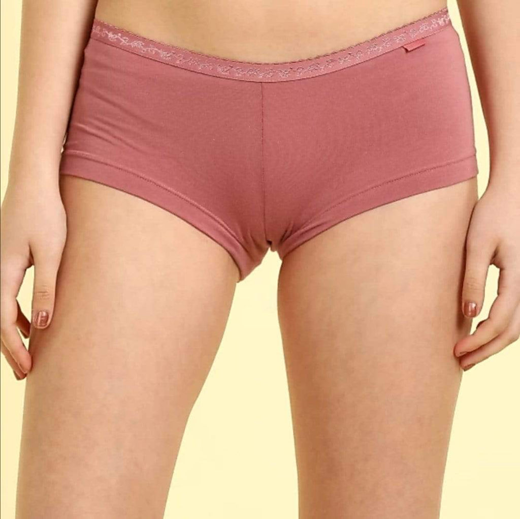 Van Heusen Panties Boy Short Plain Women (Pack of 2)- 22105 - HARSHU FASHION