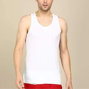 Van Heusen Men White Plain Vest- 10071 - HARSHU FASHION