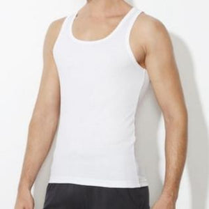 Van Heusen White Rib Vest- 10073 - HARSHU FASHION