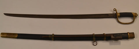 Russian WWI-Era Officer's Sword With Bayonet And Scabbard.  (ca 1917)