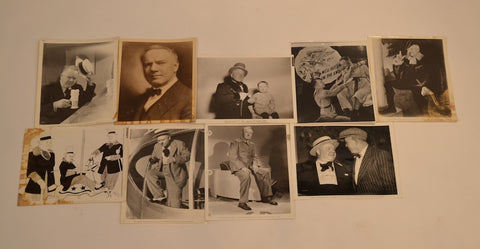 W.C. Fields (8) Photograph Collection. (1920's-1940's)