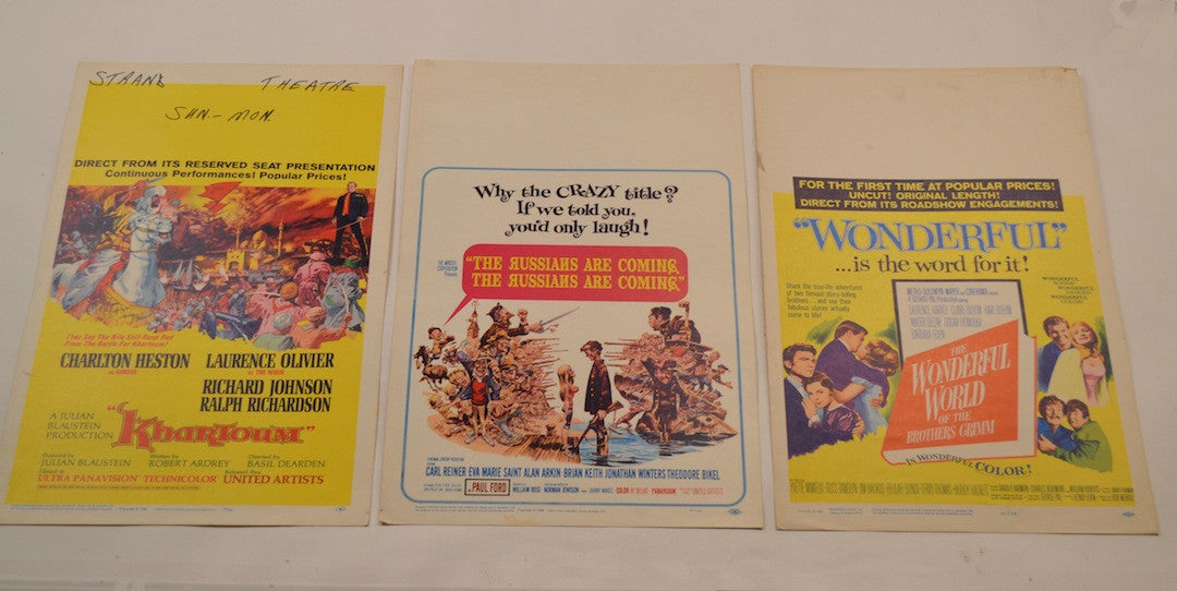 Vintage (17) Window Card Poster Collection.  (Various, 1953-1968)