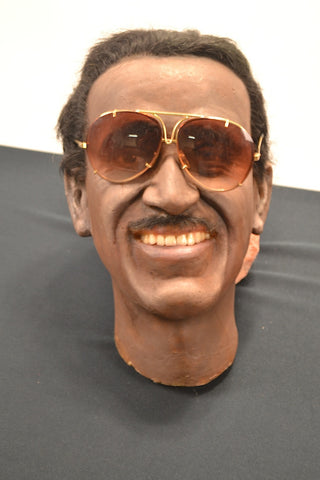 Sammy Davis Jr.  intricate-detail sculptural wax-figure display head.
