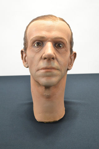 Fred Astaire intricate-detail cast foam sculptural display head.