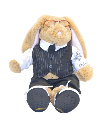 "A 26"" tan plush bunny  from the personal collection of Carrie Fisher"