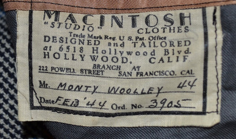 "Monty Woolley ""Edgar Brawley"" suit designed by Rene Hubert from Irish Eyes are Smiling"