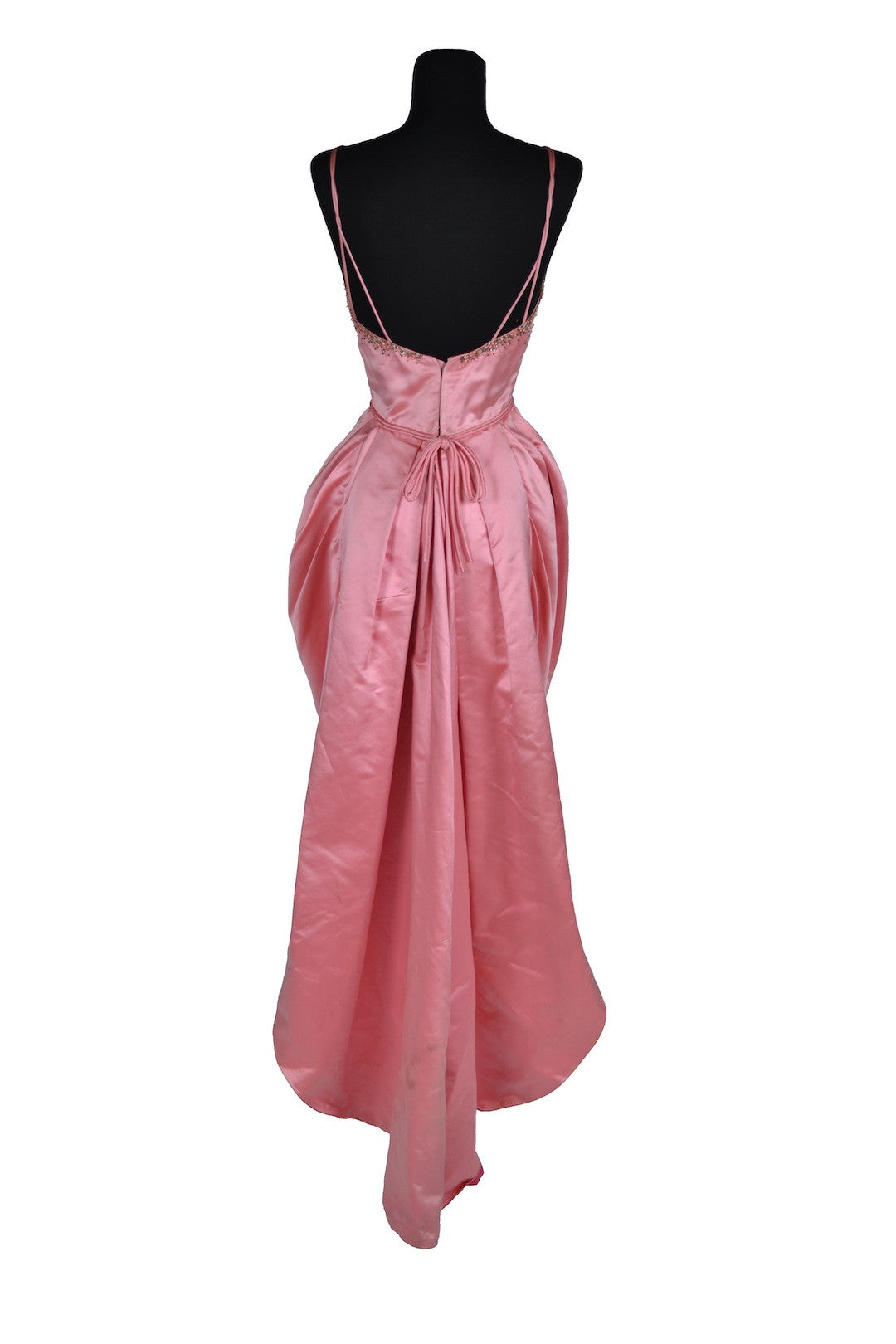 "Debbie Reynolds ""Maggie Putnam"" pink satin gown designed by Helen Rose made for It Started With a Kiss"