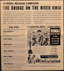 Bridge On The River Kwai general release campaign book