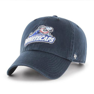 West Michigan Whitecaps Primary Logo Clean Up Navy Cap