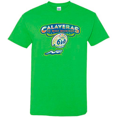 Calaveras de West Michigan Green Tee