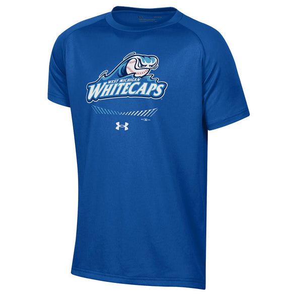 West Michigan Whitecaps Youth Under Armour Royal Tech Tee