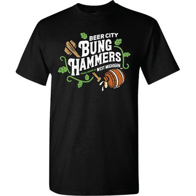West Michigan Whitecaps Beer City Bung Hammers Black T-Shirt
