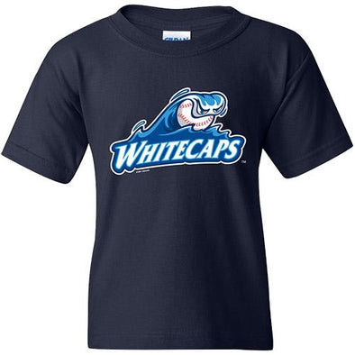 West Michigan Whitecaps Youth Primary Logo Tee - Navy